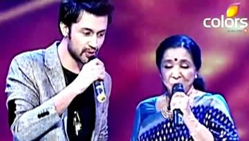 ATIF Aslam & ASHA Bhosle live at Sur Kshetra - Chura Liya Hai & Dilbar Mere