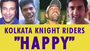 "KKR Dancing to Pharrell Williams' Song ""HAPPY"""